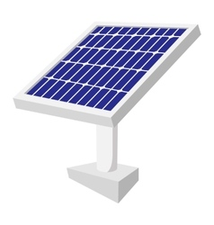 Solar battery cartoon icon vector