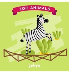 Zoo animal zebra vector