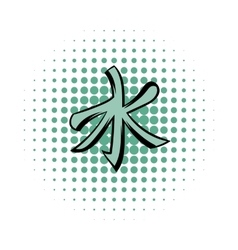 Confucianism comics icon vector