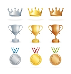 Awards set vector