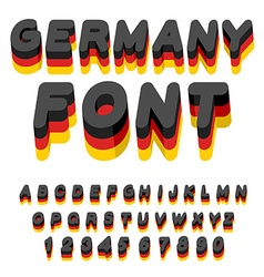 Germany font german flag on letters national vector
