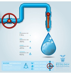 Ecology water pipeline business infographic vector