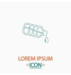 Water bottle computer symbol vector
