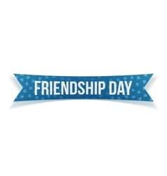 Friendship day festive blue paper label vector