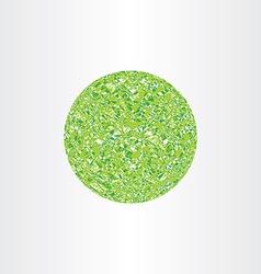 abstract geometry polygon ball green circle vector image vector image
