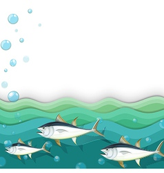 An ocean with fishes vector