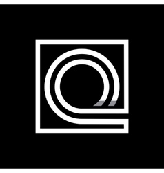 Capital letter Q Monogram logo emblem vector image vector image