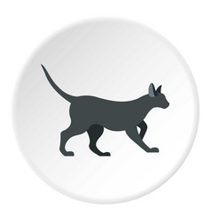 Cat icon circle vector