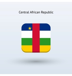 Central African Republic flag icon vector image