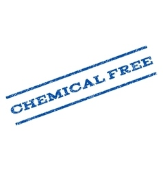 Chemical free watermark stamp vector