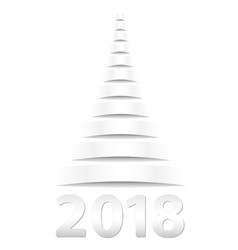 Christmas tree paper white color of paper and vector