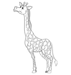 Doodle animal character for giraffe vector