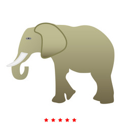 Elephant icon color fill style vector