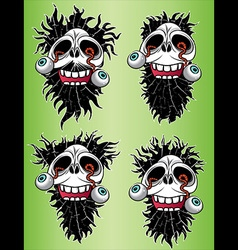 Halloween scary skull with eyes coming out design vector