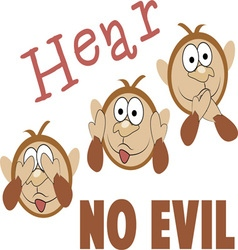 Hear no evil vector