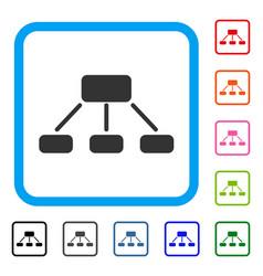 Hierarchy framed icon vector
