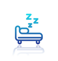 Hostel line icon on white vector