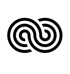 Infinity symbol icon representing the concept of vector