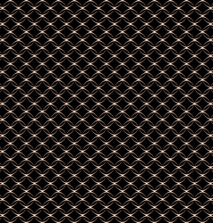 Lace seamless pattern with circles on black vector