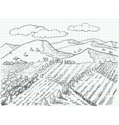 Landscape sketch vector