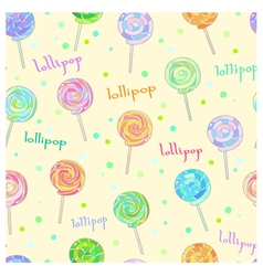 Lollipop pattern vector image vector image
