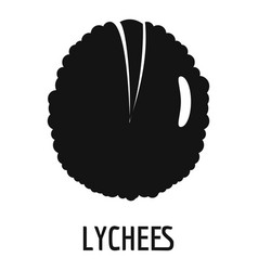 Lychee icon simple style vector