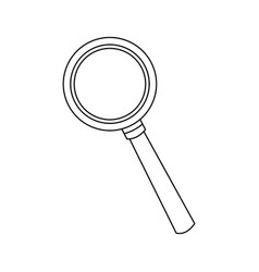 Magnifying glass icon magnifier or loupe sign vector