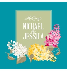 Marriage invitation card vector image vector image
