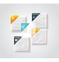 Modern business step glassi style options banner vector image vector image