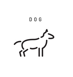 outline dog silhouette vector image