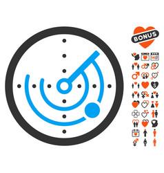 Radar icon with lovely bonus vector