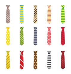 Set of ties isolated on white background vector