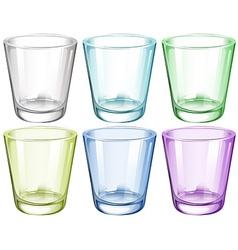 Six glasses vector