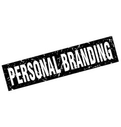 Square grunge black personal branding stamp vector