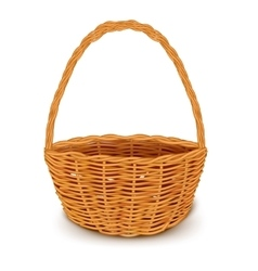 Traditional wicker basket isolated vector