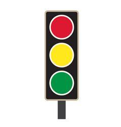 Traffic light icon on white background traffic vector