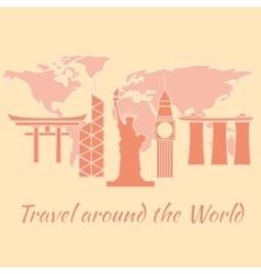 travelaroundtheworld vector image