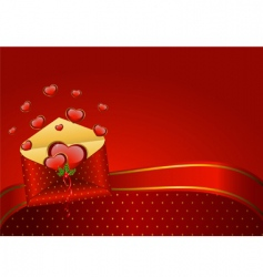 valentines mail vector image vector image