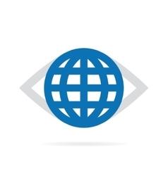 World eye logo vector image vector image