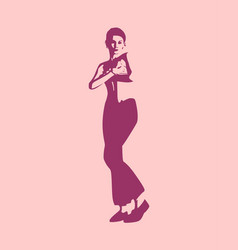 young woman posing vector image