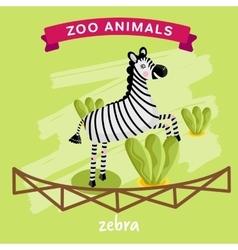 Zoo animal zebra vector