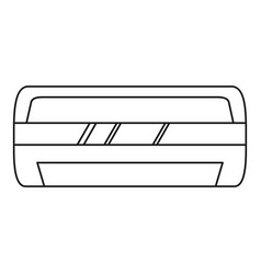 modern air conditioner icon outline style vector image