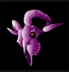 Goat skull modern style vector