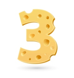 Three cheese number vector
