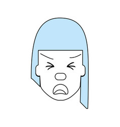 Woman with heart attack face vector