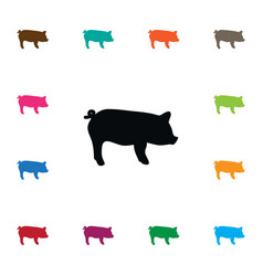 Isolated hog icon swine element can be vector