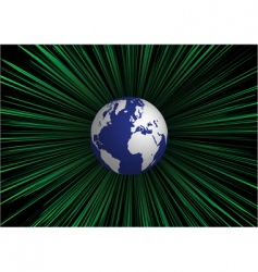 explosion and globe vector image