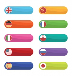 Flag tabs vector