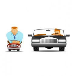 funny drivers vector image