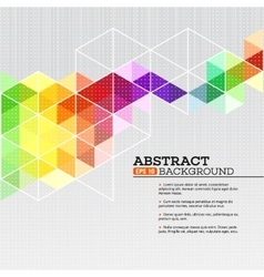 Color geometric background with triangles vector